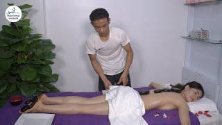 20 MIN JAPANESE MASSAGE WITH HOT STONE & OIL | HOW TO & BENEFITS